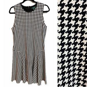 Lauren Ralph Lauren Sleeveless Houndstooth Dress